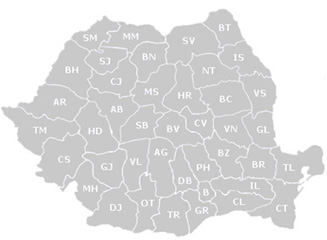 Harta Romaniei - Judete